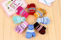 wholesale New Children Winter warm Baby Gloves Warm Gloves outdoor sports woolen yarn Style Mittens For Kids