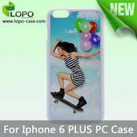 For iPhone 6 Plus sublimation plastic case,Sublimation PC case,100pcs/lot