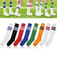 2014 New Over Knee Long Sleeve Stockings Men/Women Stripe Tube Soccer Football Baseball Thigh High 3 Striped Stocking