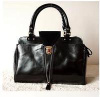 Famous Brands Handbags 2014 Hot Women Genuine Leather Vintage Women Handbag Fashion Shoulder Bags