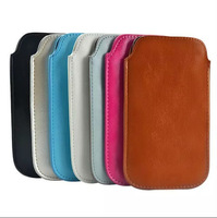 Pull TAB Luxury Soft PU Leather Pouch Case for iPhone 6 plus/ iPhone 6/ iPhone 5 Protective Sleeve pouch Free shipping