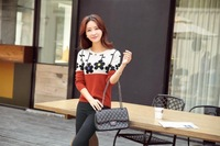 Free Shipping 2014 New Fashion Korean Women Long Loose Sweater Chinese Style Pullover Knitted Sweater women For Winter