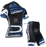Free shipping! Orbea 2014 short sleeve cycling jersey shorts set, bike bicycle wear clothes jerseys pants,silicone pad