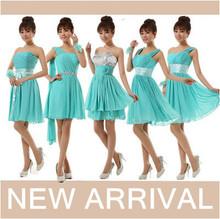 weibliche kleidung frauen kurze Eleganz kleid türkis dresse plus size Geburtstagsparty cocktailkleider kostenloser versand w1656(China (Mainland))