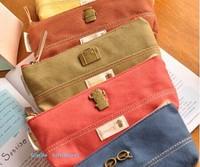 Classic Retro Design School Kids Pen Pencil BAG Case ; Canvas Lady Girl's Coin BAG & Cosmetics Purse & Wallet Pouch BAG Case