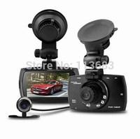 "G30B Allwinner Car DVR Dual Lens Car Camera 2.7"" LCD Full HD 1080P Dash Cam with G-sensor+H.264+Night Vision+Motion Detection"
