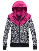 Spring Autumn Thin Outdoors Windbreaker Basic Jacket Women Men Sportswear Hooded Zipper Sport Coats