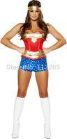 2014 New Sexy Adult Women Heroine Hot Superhero Women Wonder Superman Costume Halloween Outfit Free Shipping