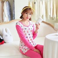 Spring Autumn Winter Long Sleeve Cotton Pajama Set Casual Sleepwear Nightwear Home Clothing Pijamas