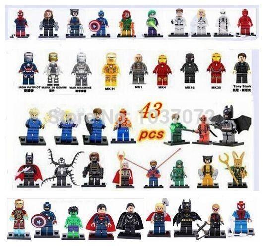 DHL free shipping 430pcs Super Heroes Minifigures Loki Fantastic PHOENIX Deadpool Joker & spiderman Iron man building brick Toys(China (Mainland))