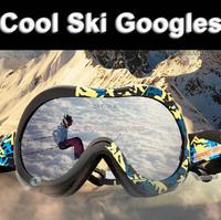 Free shipping Cool motocross ski goggles winter anti-fog skiing glasses Men snowmobile snow goggle Snowboard ski googles eyewear
