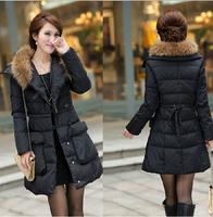 2014 New thickening plus size maternity clothing medium-long down coat fashion winter overcoat
