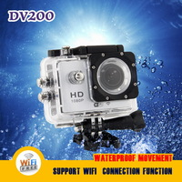 Sports DV DV200 WIFI Sports Action Camera Diving 30M Waterproof 1080P FHD H.264 Underwater Sport Camcorder Gopro style - Silver