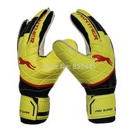 anti slipping protective goalkeeper gloves with pp shield protecting finger luva de goleiro