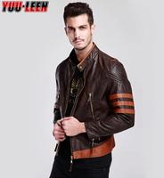 Hot Selling Wolverine PU Leather Jacket Logan Motorcycle Jacket Winter Men 's Leather Jacket Free Shipping M-4XL