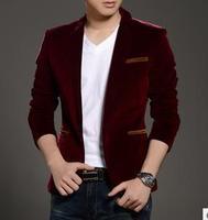 hot sale 2014 autumn New style suits men lie fallow corduroy suits korean suits C42 free shipping