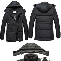Men's winter jacket The new men's down jacket and long sections mounted coat even cap jacket  XL 2XL 3XL 4XL large size / W720