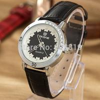 Unique Design Girl Wristwatch Flower Dial Leather Straps Women Dress Watch Casual Quartz Clock QZ4063