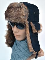 2014 winter cap lei feng hat  men Ear cap Bomber Hats fur hat male outdoor leather cap hat ear protector cap