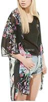 Vintage jacket Women Boho Hippie Loose Style Floral Print Kimono Cardigan Coat Cape Blazer Jackets Women blazer