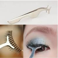 Multifunction Fake Eyelash Curler Really Useful false eyelash applicator Makeup Cosmetic Tool