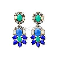 New arrive 2014 JC women fashion J C design crystal  statement stud Earrings for women jewelry wholesale