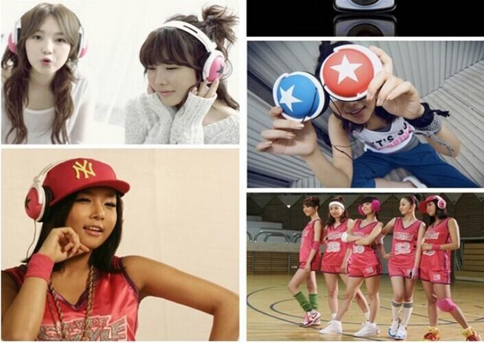 10pcs wholesale fashion mix style star Studs sports Headphones earphones for Laptop,computer,MP3,3.5MM JACK' phone(China (Mainland))