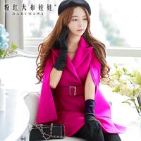 Dabuwawa Brand New Autumn And Winter 2014 Korean Women Slim Woolen Coat Woolen Shawl Coat