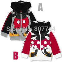 free shipping!2014 newest cartoon Popular children's coat Mouse boys jacket kids fashion coats size 80-120  5pcs/lot