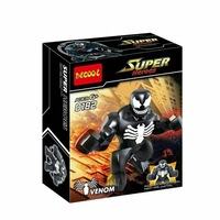 Wholesale 20Pcs Decool 0182 Building Blocks Super Heroes Avengers Action figures Minifigures 7cm Big Black Spider Venom Figures