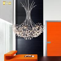 orth European style of simple luxury living room restaurant meals chandeliers American retro dandelion crystal lamp 9901