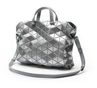 2014 new fashion  Metallic Glitter Silver Color bao bao issey miyake Messenger plaid bag women handbag