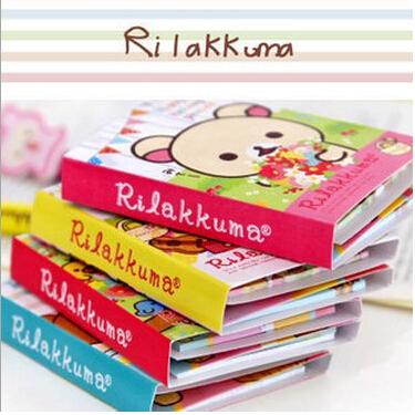 Free Shipping New Cute rilakkuma style Notepad / Memo / 4 fold sticky note pad / notebook(China (Mainland))