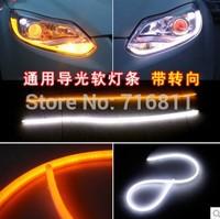 Scolour 2 x 60cm Car DRL LED Daytime Running Soft Tears Strips Steering Lights with trunlight