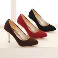 Fashion Pointed Toe Thin Heel Women Pumps Sexy Slip-on Shallow Month High Heels Women Shoes Elegant Wedding Shoes Plus Size33-47