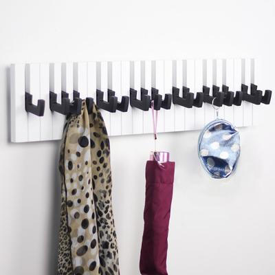 Decor hook Fashion wooden hangers Piano coat robe rack Decorative Wall creativity keys black(China (Mainland))