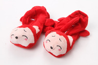 5colors Women Christmas gift Plush Dog Gloves Thicken winter Cartoon Gloves Mittens for Girls Free Ship