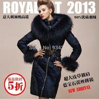 Top!!3XL Coat New Arrival Women's Winter Peacock Dynasty Fashion Large Raccoon Fur Collar Slim High Quality Luxury Down Coats