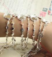 New Diy Findings Chains Bracelet Wholesale All copper / silver / 15mm / Crown / Fancy bracelet / 7 models