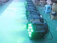 6pcs/lot packed in a flightcase led par light 18pcs *10watts (4in1)  quad color RGBw  led par can DMX 8chls