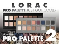 Factory Direct!2Pieces/Lot New LORAC Pro Palette And Pro Palette 2 16 Colors Eyeshadow & Primer!