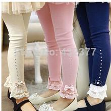 Venta caliente 2014 Primavera manera muchacha pantalones de flores niña bebé polainas niños de algodón legging las polainas del otoño niños de los pantalones de las niñas(China (Mainland))