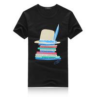 2014 male fashion T-Shirt cotton round neck short sleeve T shirt wholesale men's T shirt printing
