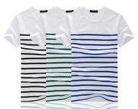 2014 fashion men's T shirt striped pattern personalized fashion T shirt Men T shirt