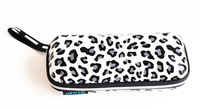 New Black And White Leopard Zipper Sunglasses Box High Quality Dotted EVA Glasses Pouch Bag Cases Eyewear Promotional Gifts