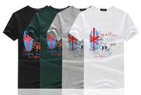 2014 new fashion men's short-sleeved t-shirt printed cotton t-shirt men's t-shirt men