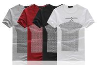 2014 summer fashion men T shirt printing men's short-sleeved T-shirt men's T shirt