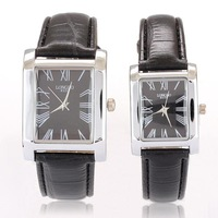 Leather strap Lovers' Watch pair  for Men and Women Fashion Quartz Movement Lovers Wristwatch
