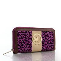 2014 Fashion famous high quality Designers X88m Brand Michaeled k Selma wallet women purse PU LEATHER women's long design wallet