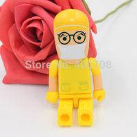 Yellow glasses man real 2GB 4GB 8GB 16GB 32GB usb flash pen drive thumb drive pen key usb memory  10pcs/lot